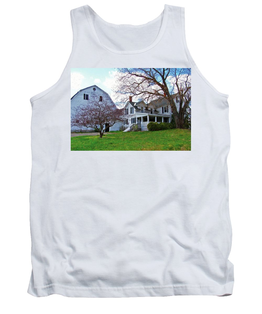 Farm Tank Top featuring the photograph Tower Farm Washburn Maine by William Tasker