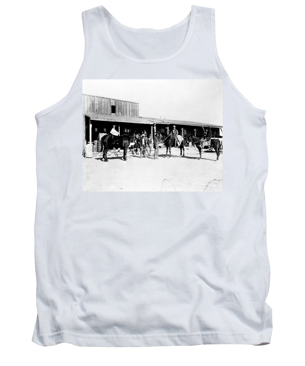 1882 Tank Top featuring the photograph Trading Post, 1882 by Granger