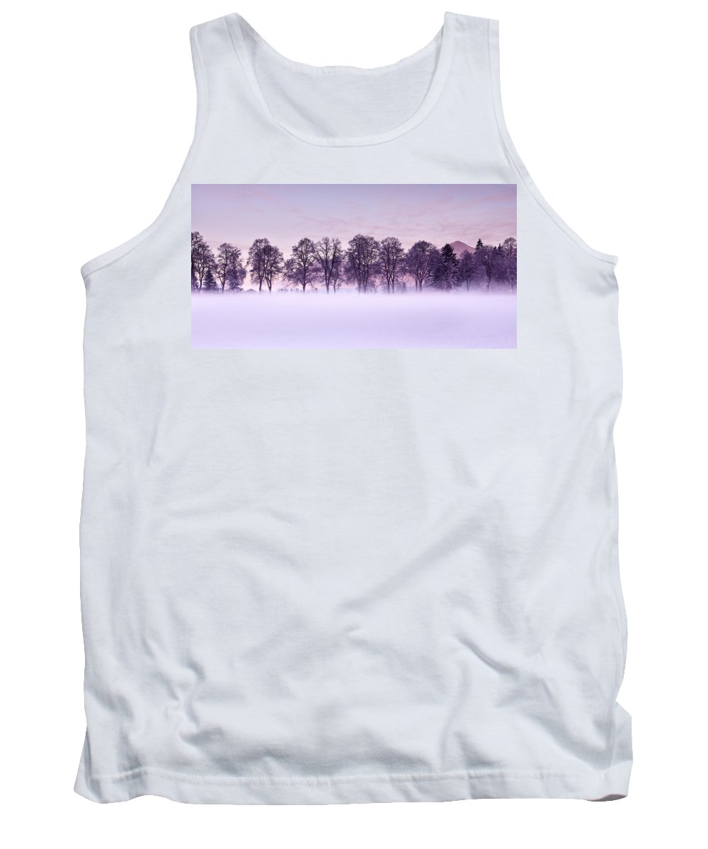 Winter Tank Top featuring the photograph Tree Line by Jorge Maia