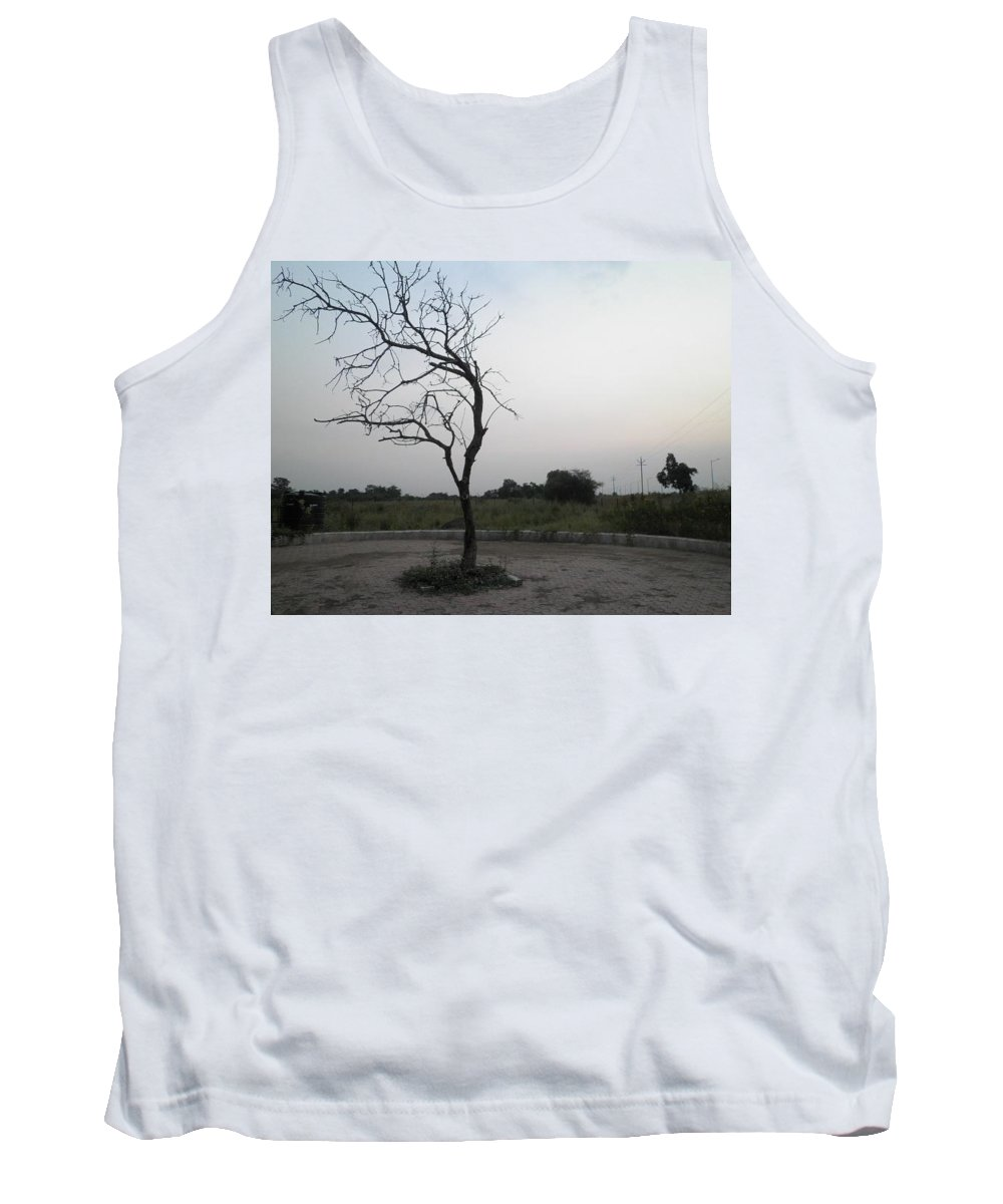 Acrylic Tank Top featuring the photograph Tree by Artist Nandika Dutt