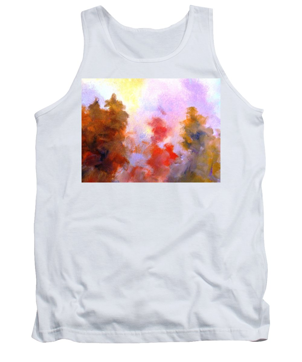 Paintings By Lyle Tank Top featuring the painting Trees In The Morning by Lord Frederick Lyle Morris