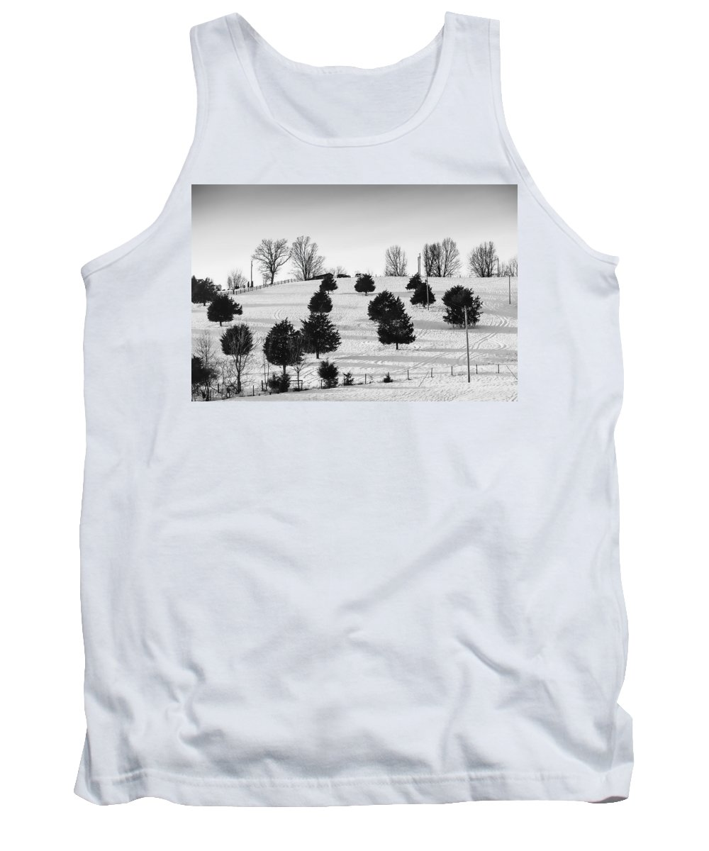 Blue Tank Top featuring the photograph Trees by Sheri Bartoszek