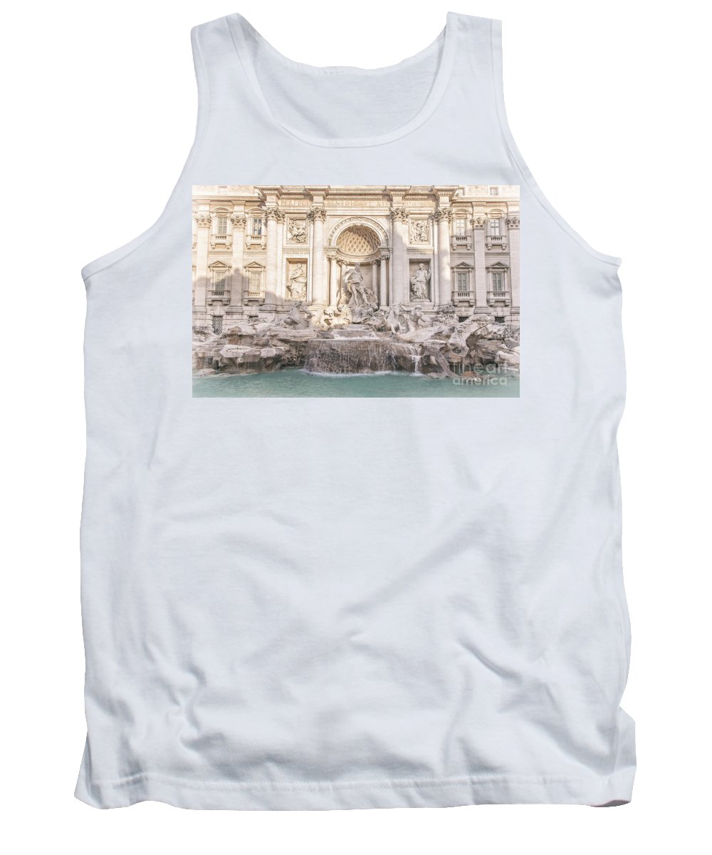 Trevi Tank Top featuring the photograph Trevi Fountain Rome by Sophie McAulay