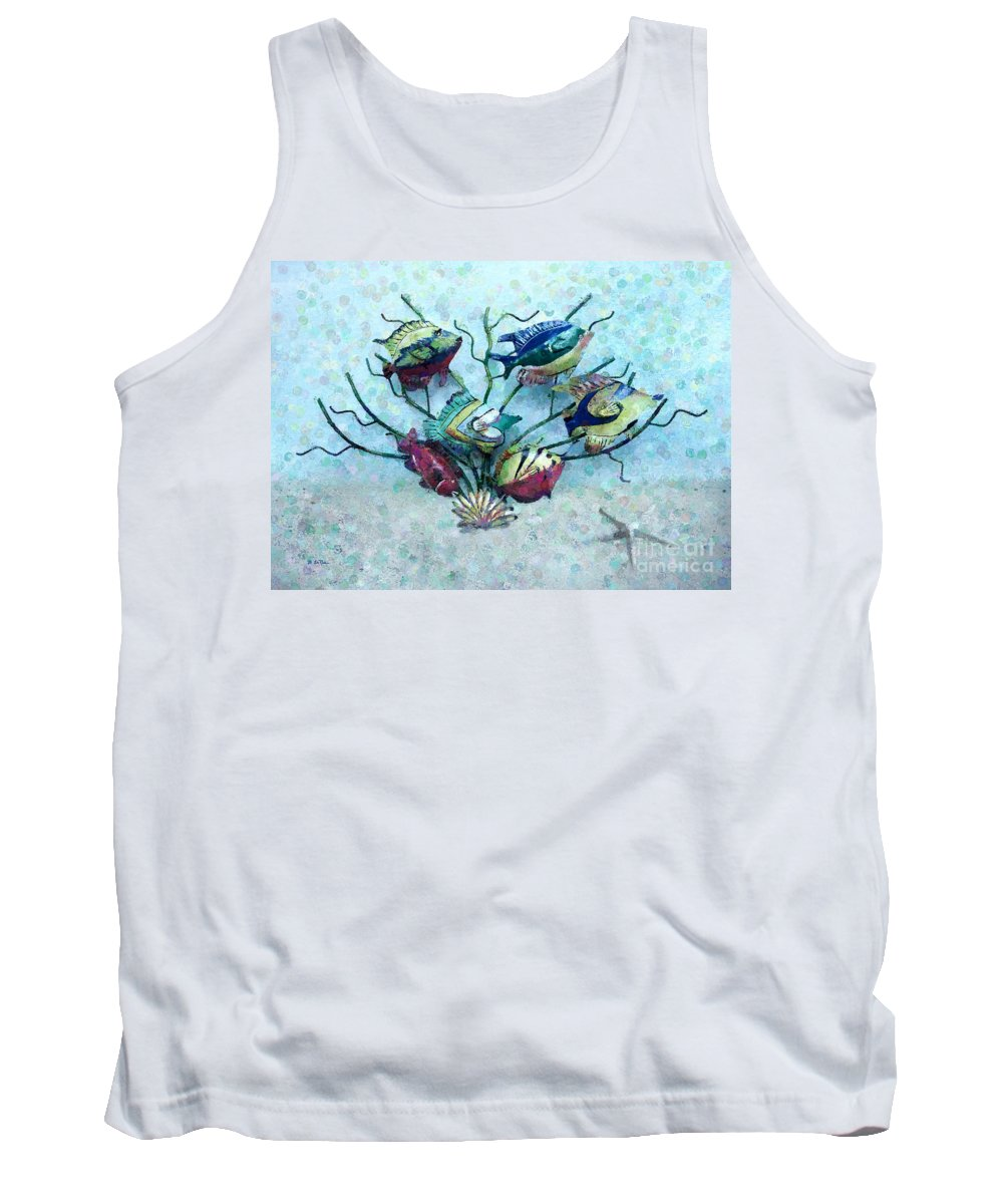 Tropical Fish Tank Top featuring the photograph Tropical Fish 4 by Betty LaRue