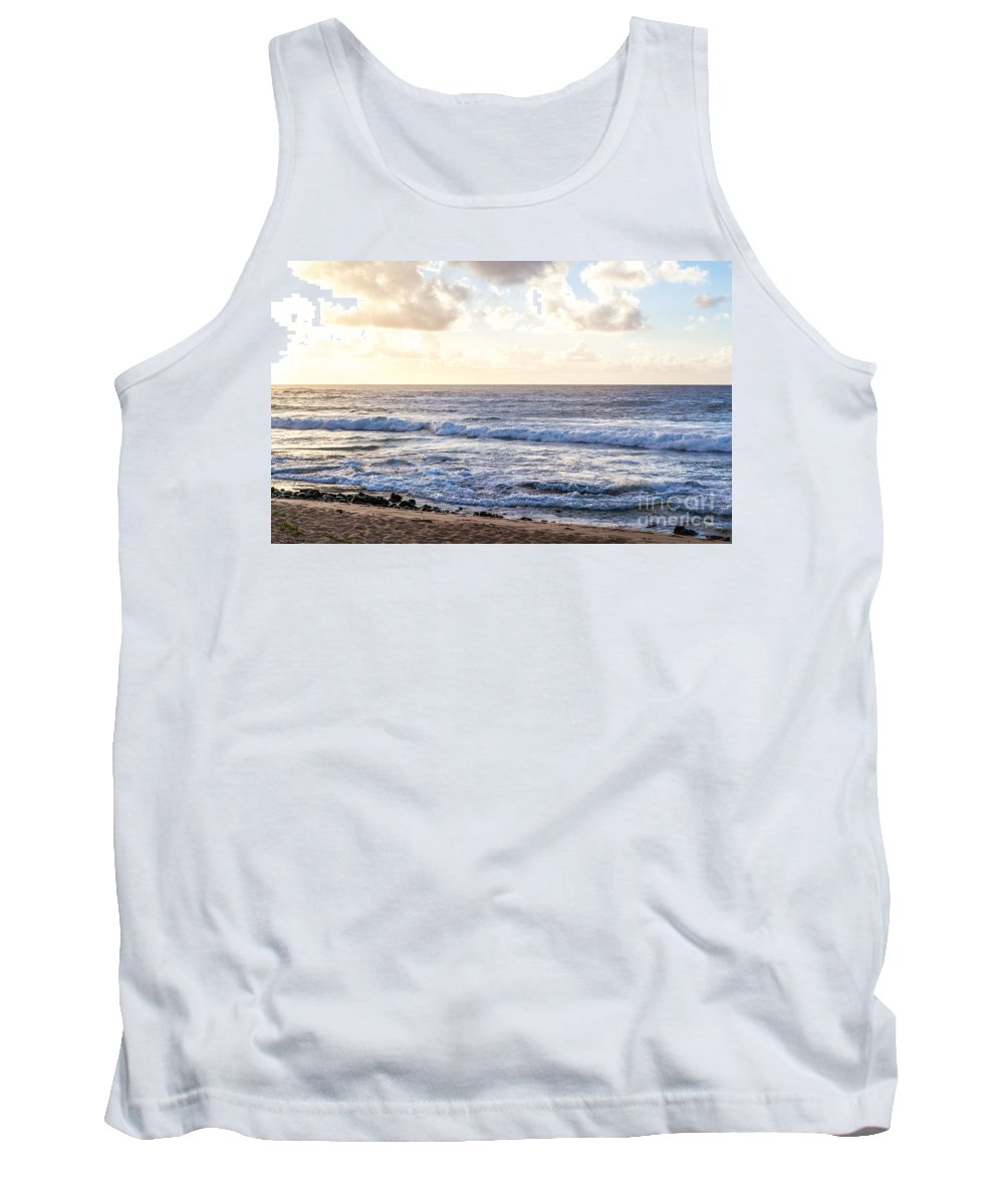 Shipwrecks Beach Tank Top featuring the photograph Tropical Morning by Roselynne Broussard
