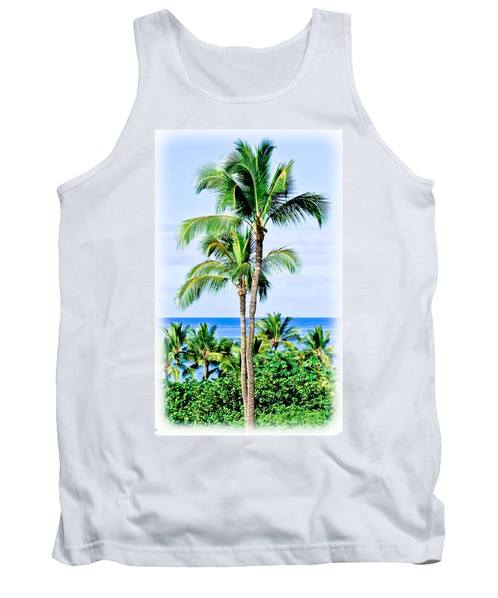 Tropical Palm Trees Tank Top featuring the photograph Tropical Palm Trees In Hawaii by Athena Mckinzie