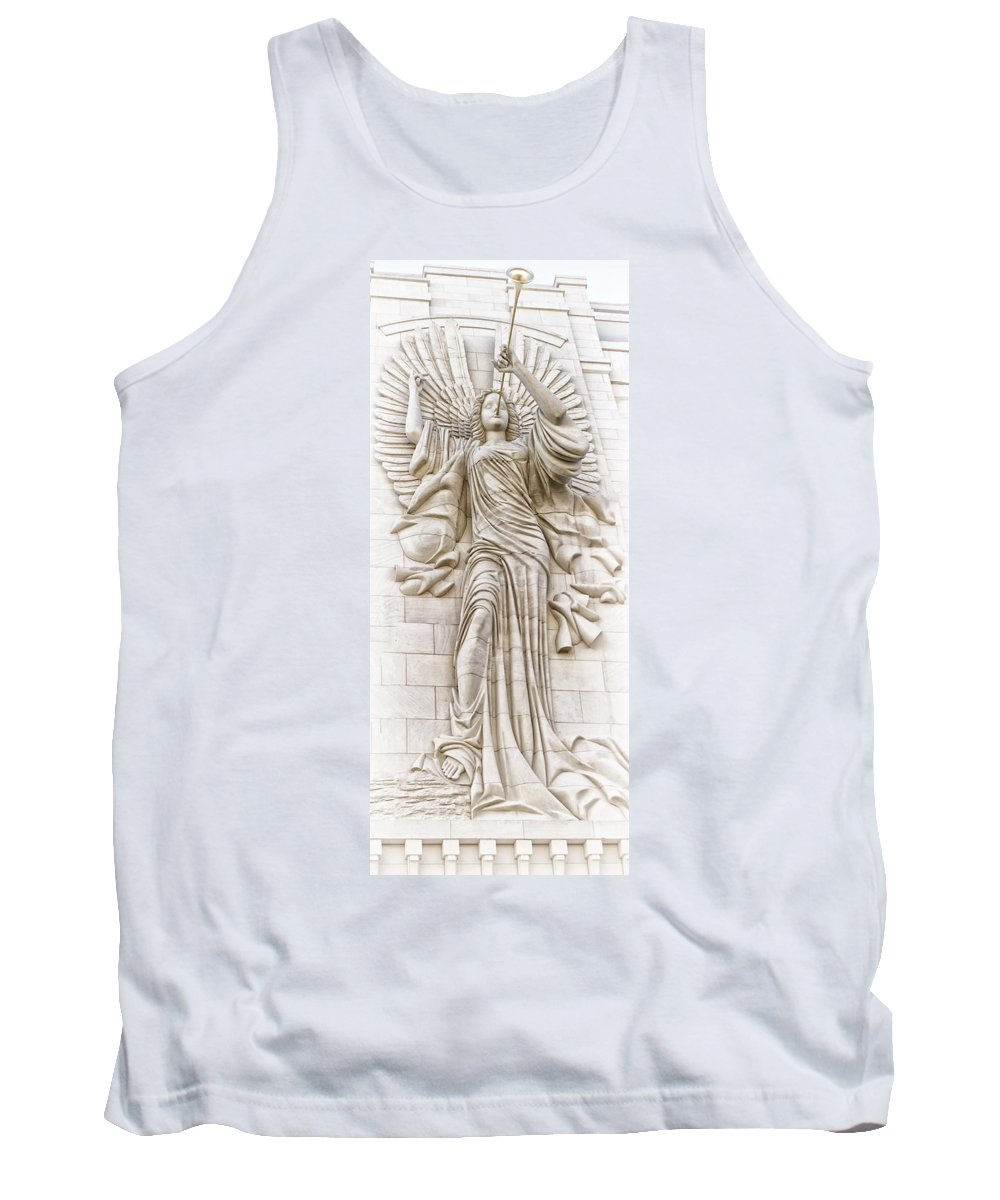 Bass Hall Tank Top featuring the photograph Trumpeting Angel by Debby Richards