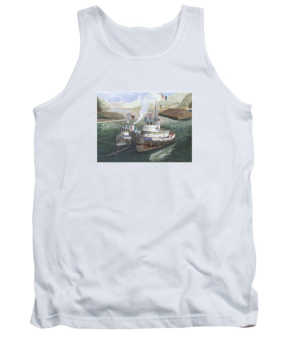 Gale Warning Tank Top featuring the painting Gale Warning Safe Harbor by Jack Pumphrey