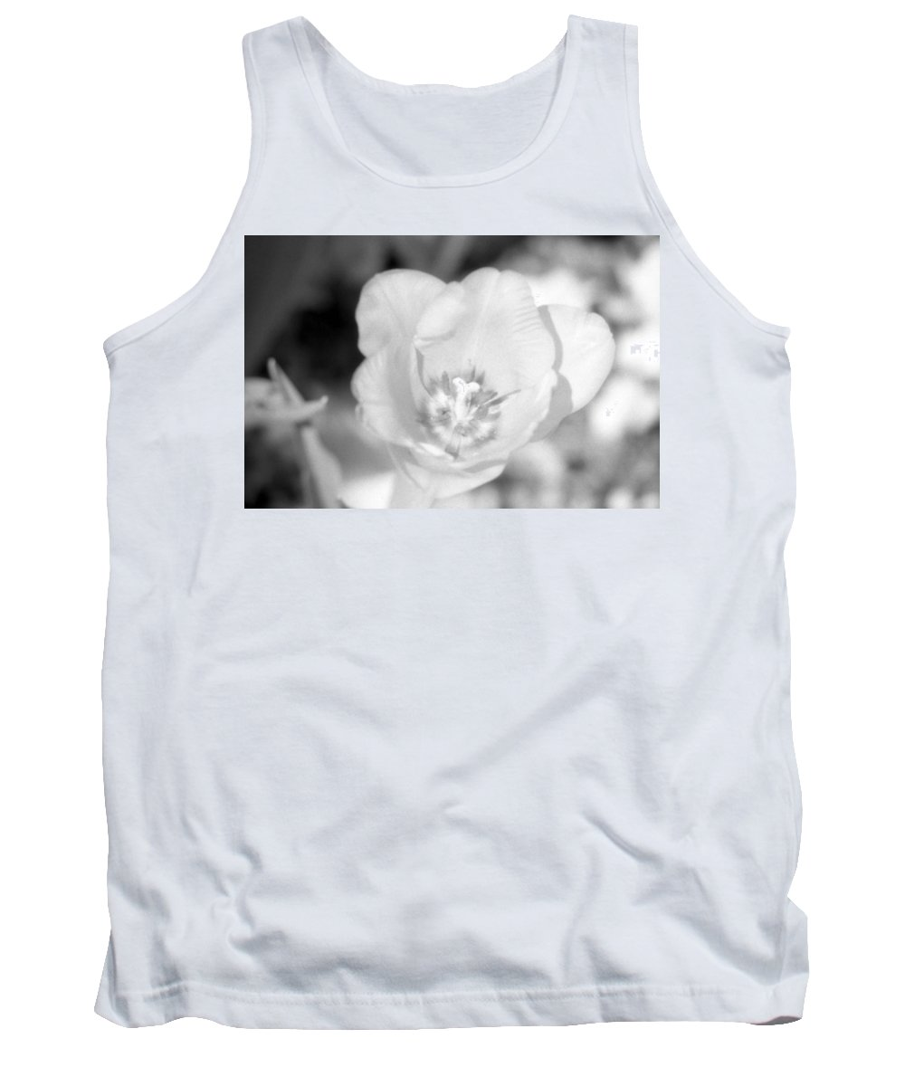Tulip Tank Top featuring the photograph Tulips - Infrared 45 by Pamela Critchlow