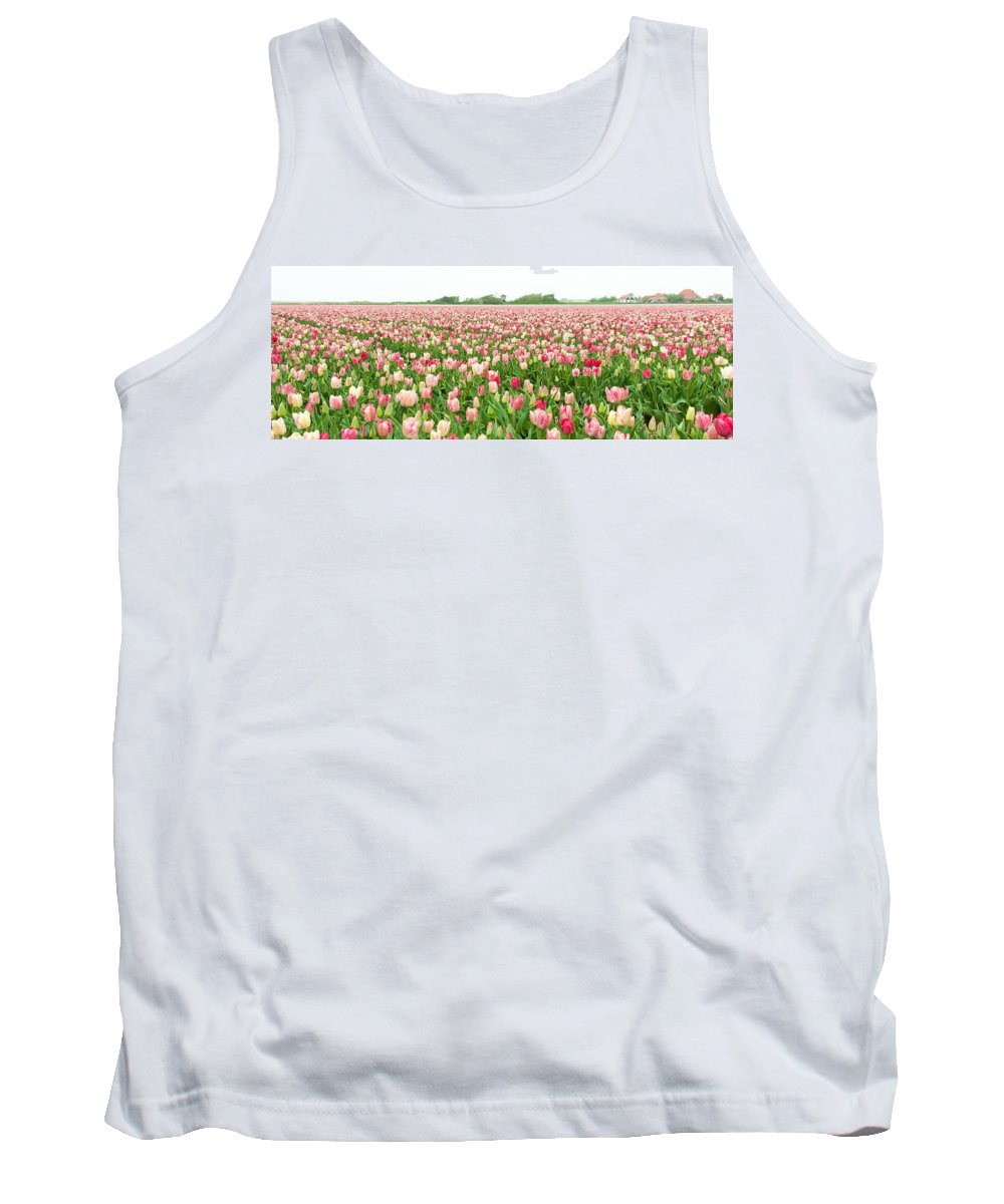 Yellow Tank Top featuring the photograph Tulips Part Xv by Alex Hiemstra