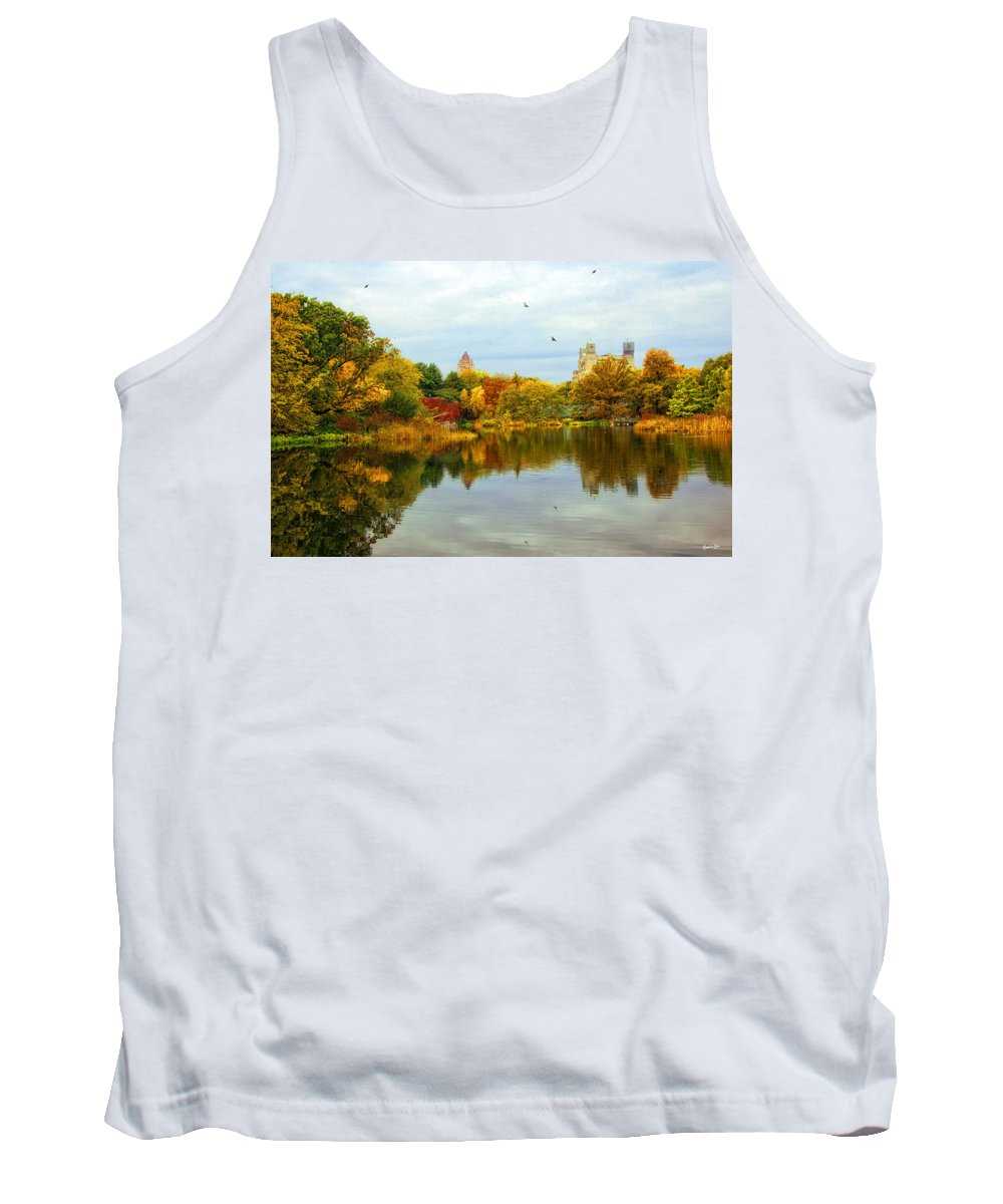 Autumn Tank Top featuring the photograph Turtle Pond 2 - Central Park - Nyc by Madeline Ellis