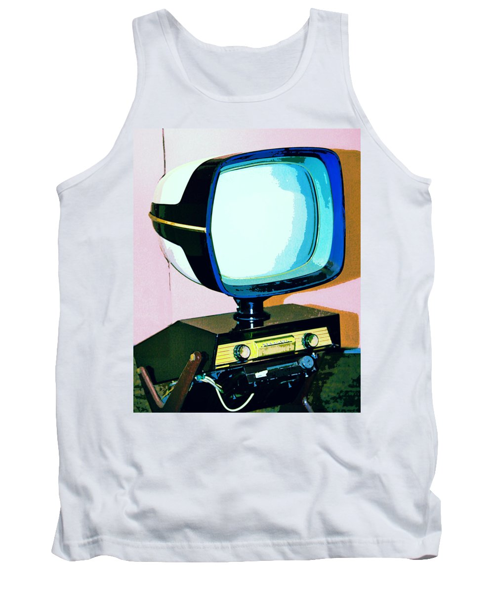 Modernism Tank Top featuring the photograph Tv Land Palm Springs by William Dey