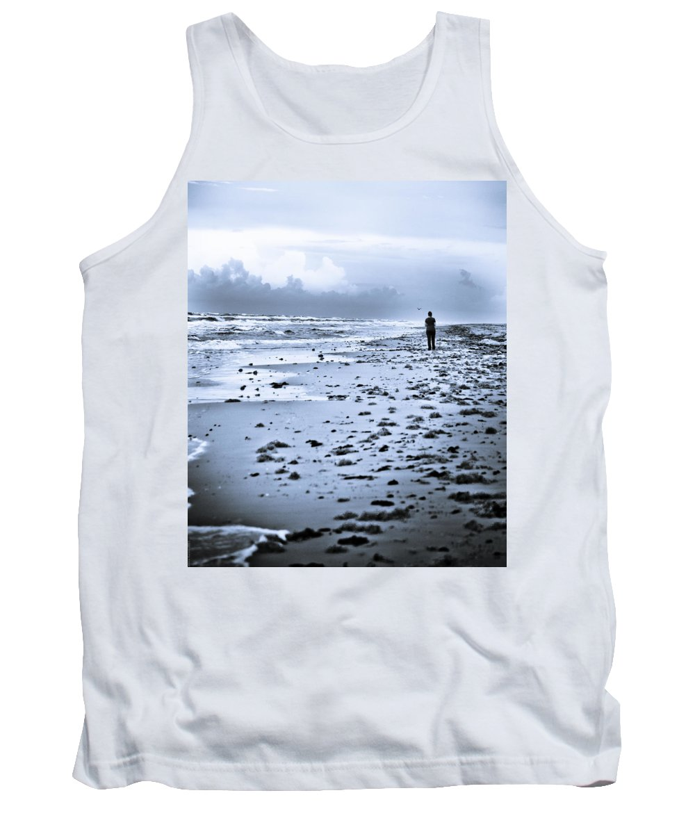 Twilight Tank Top featuring the photograph Twilight Blues by Debbie Karnes