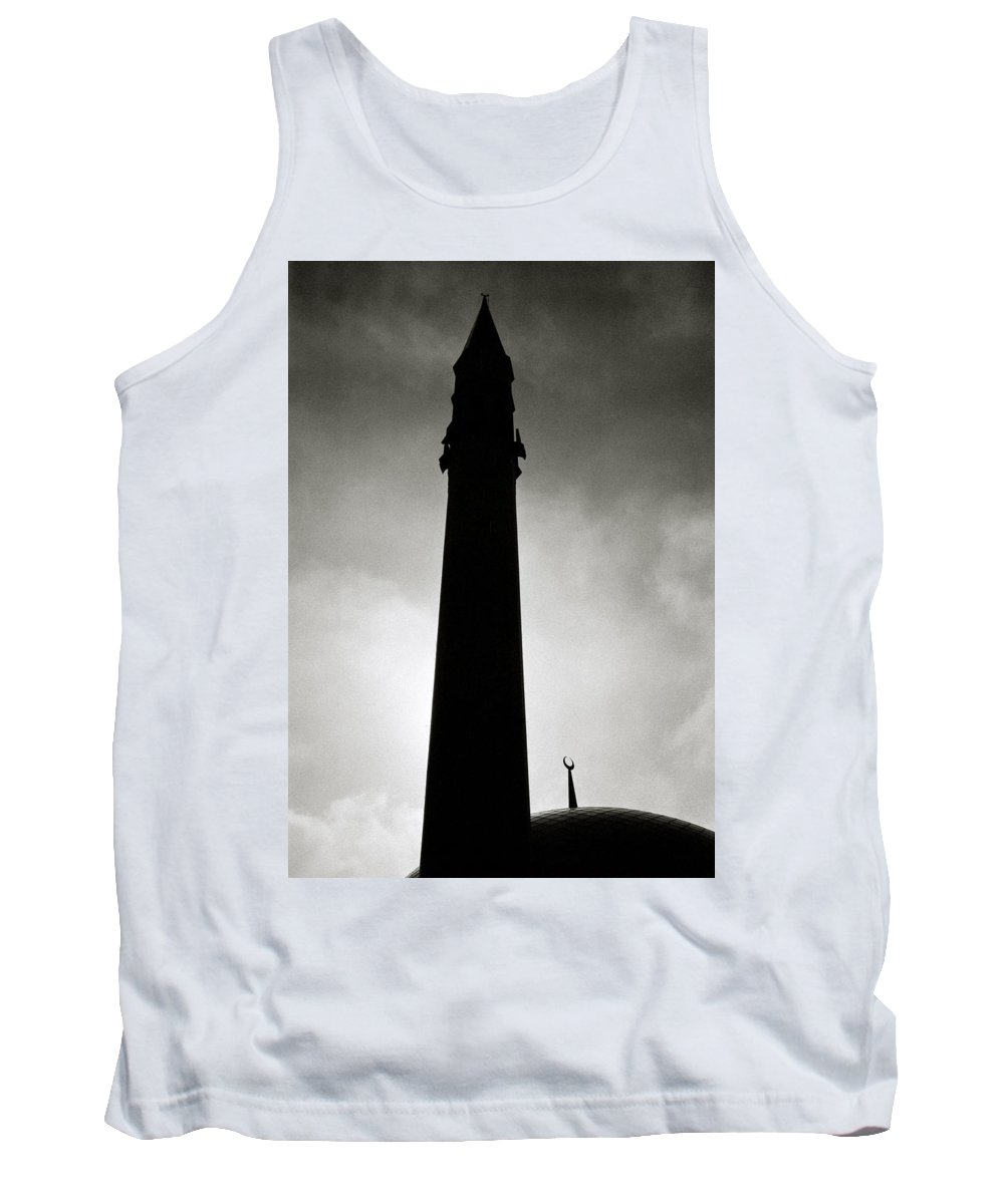 Inspiration Tank Top featuring the photograph Twilit Mosque by Shaun Higson