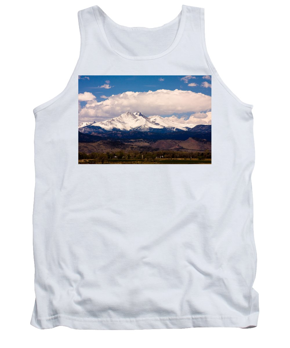 Twin Peeks Tank Top featuring the photograph Twin Peaks Snow Covered by James BO Insogna