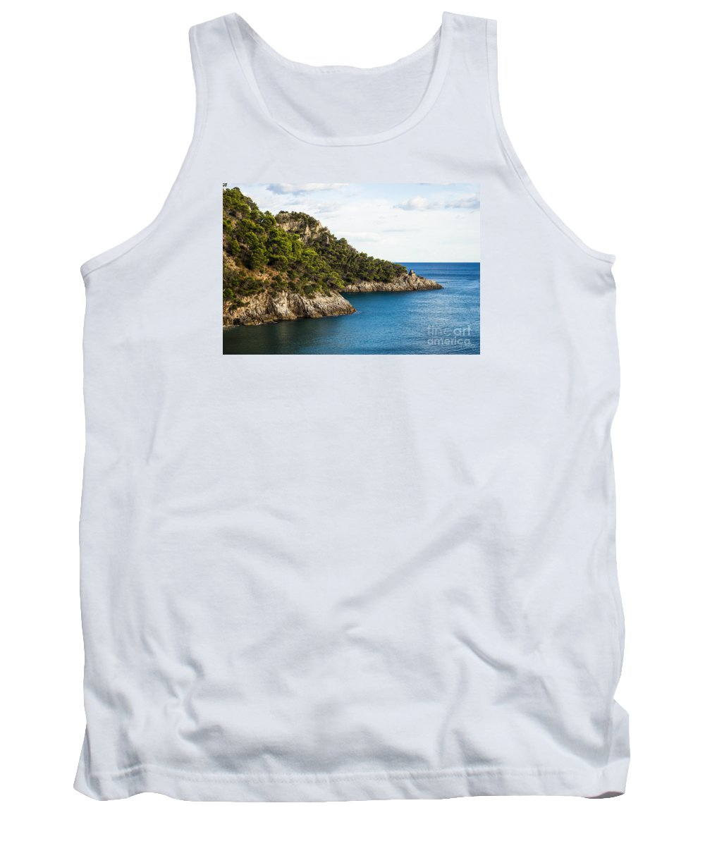 Twin Points Tank Top featuring the photograph Twin Points Of Italy by Prints of Italy