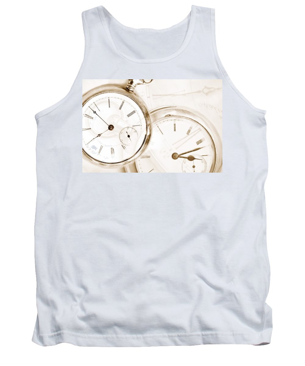Clock Tank Top featuring the photograph Two Clocks by Chris Knorr