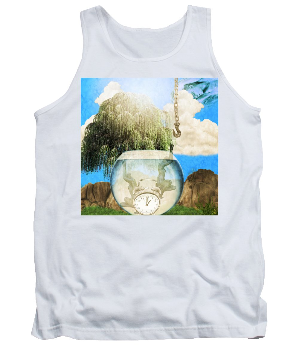 Two Lost Souls Tank Top featuring the mixed media Two Lost Souls by Ally White