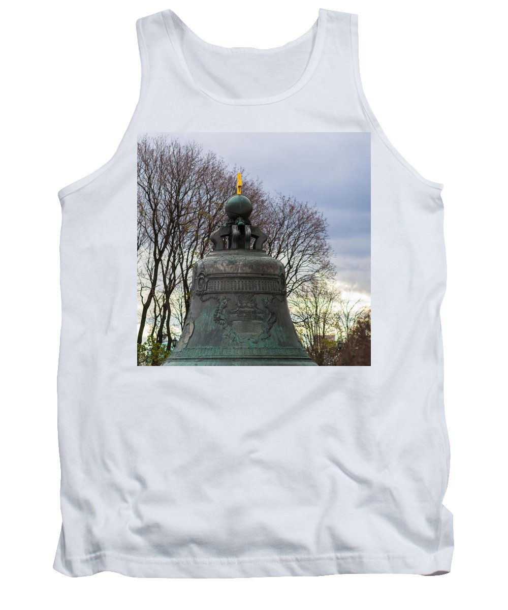 Architecture Tank Top featuring the photograph Tzar Bell Of Moscow Kremlin - Square by Alexander Senin