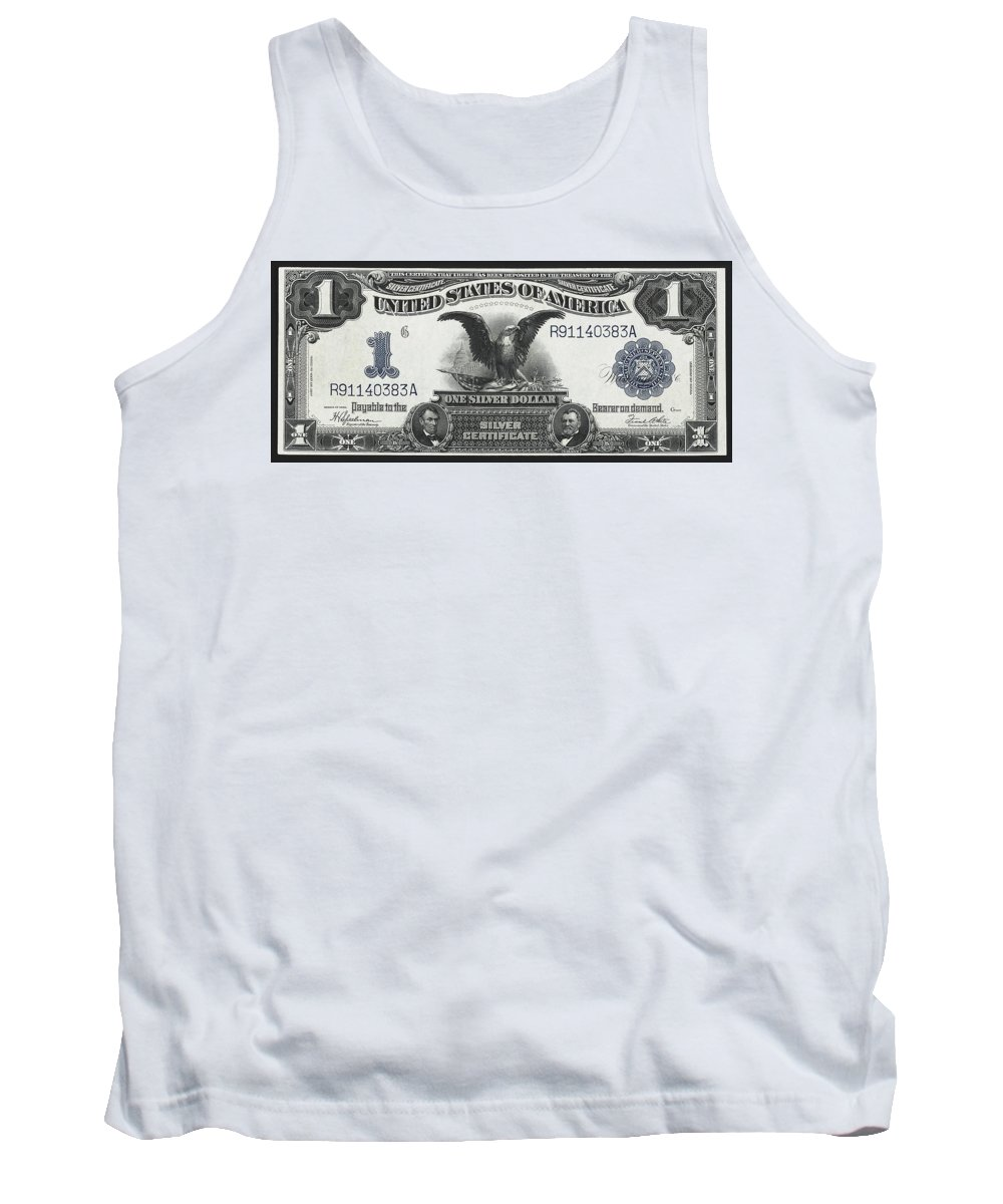 silver Certificate Tank Top featuring the photograph U. S. Silver Certificate 1899 by Daniel Hagerman