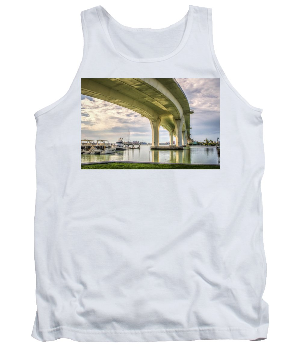 Clearwater Tank Top featuring the photograph Under The Bridge by Jane Luxton