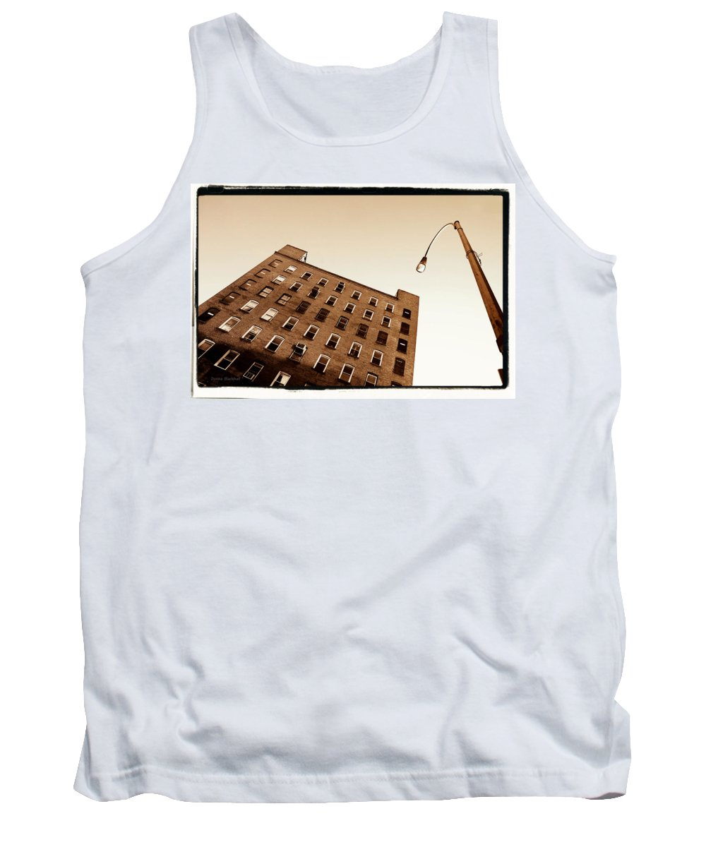 New York Tank Top featuring the photograph Under The Street Lamp by Donna Blackhall