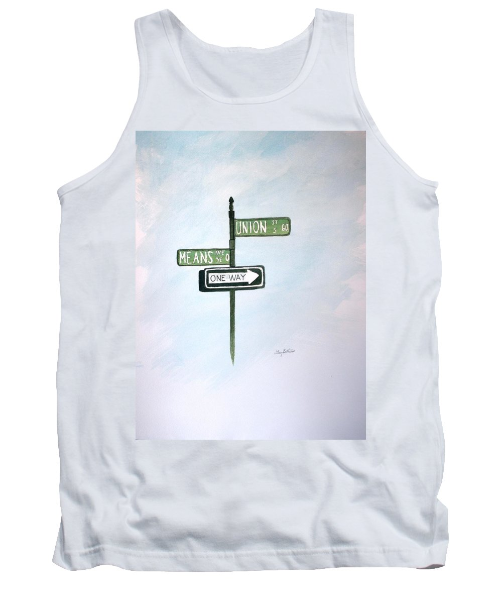 Concord Tank Top featuring the painting Union Means One Way by Stacy C Bottoms
