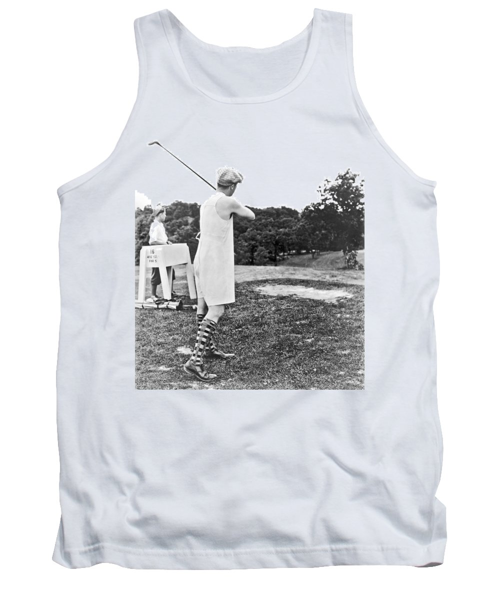1920s Tank Top featuring the photograph Union Suit Golfer by Underwood Archives
