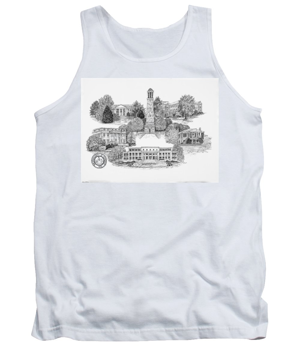 Illustrations Tank Top featuring the digital art University Of Alabama by Jessica Bryant