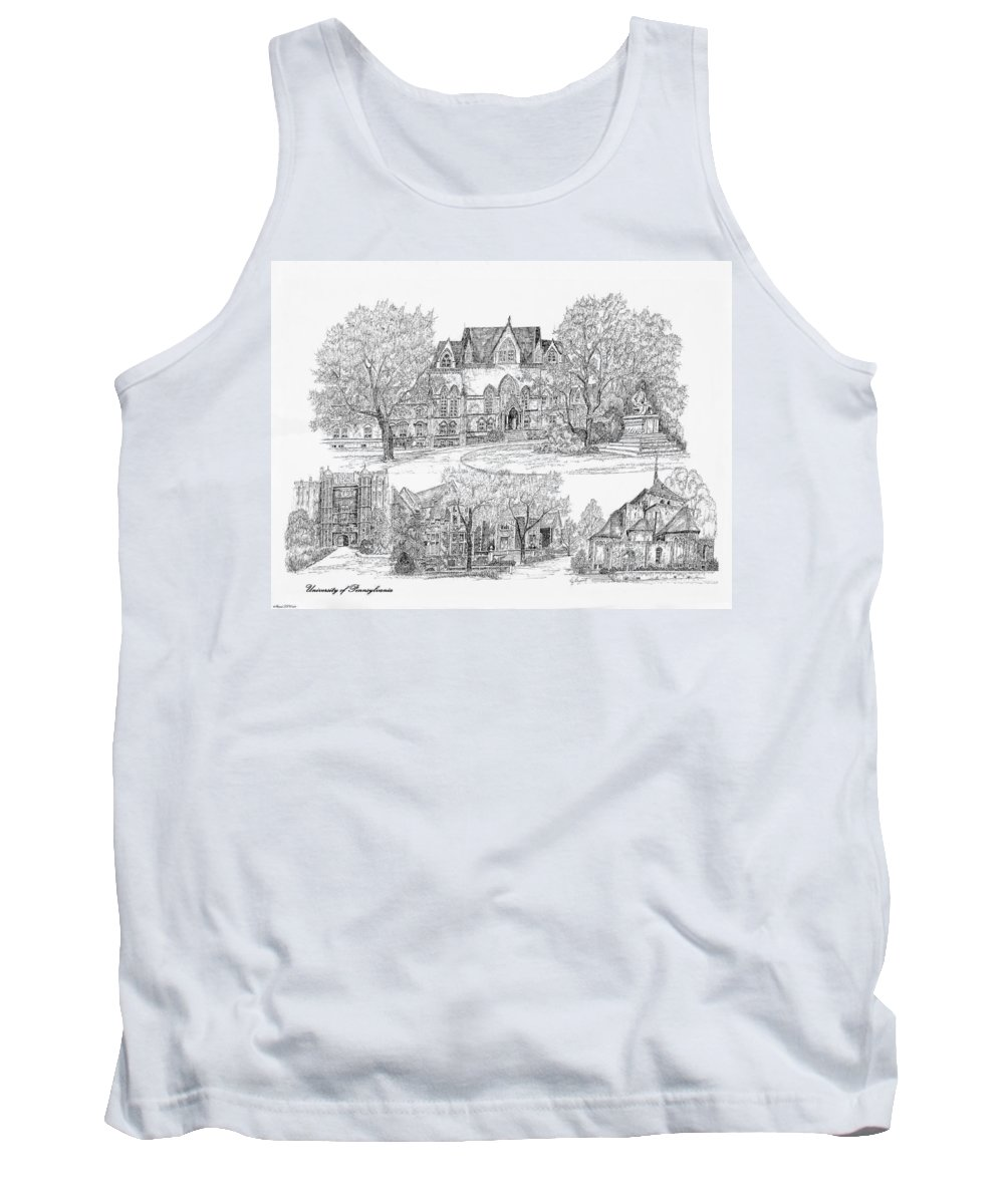 Illustrations Tank Top featuring the digital art University Of Pennsylvania by Jessica Bryant