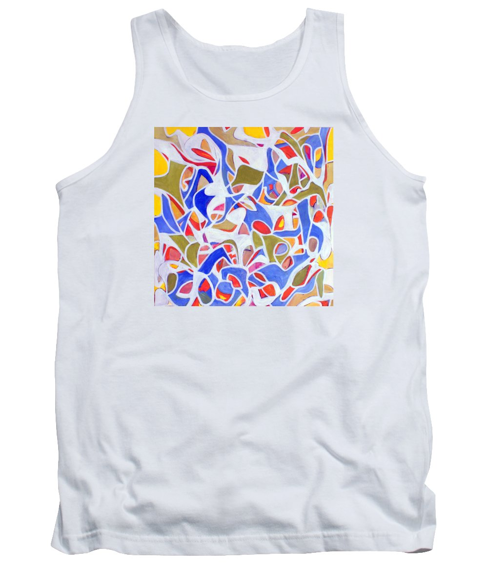 Abstract Tank Top featuring the painting Untitled #42 by Steven Miller
