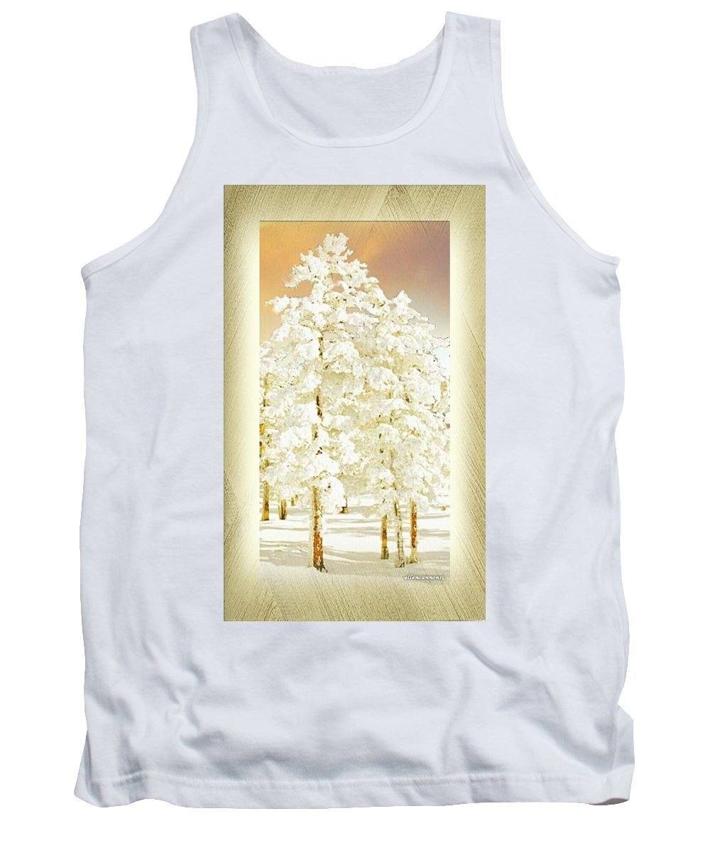Tank Top featuring the digital art Vanilla Icing by Ellen Cannon