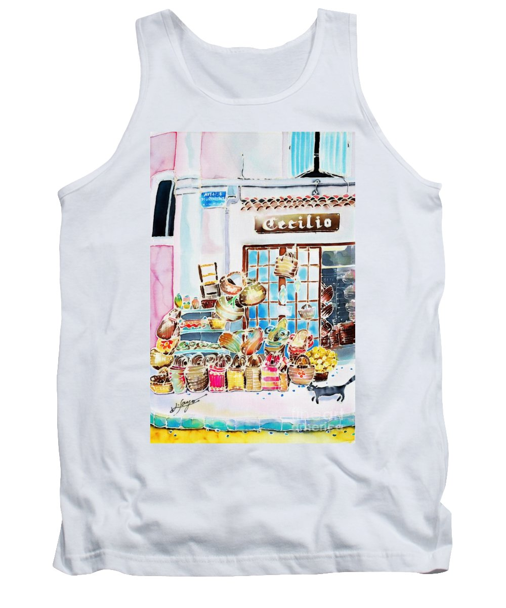 France Tank Top featuring the painting Vannerie by Hisayo Ohta