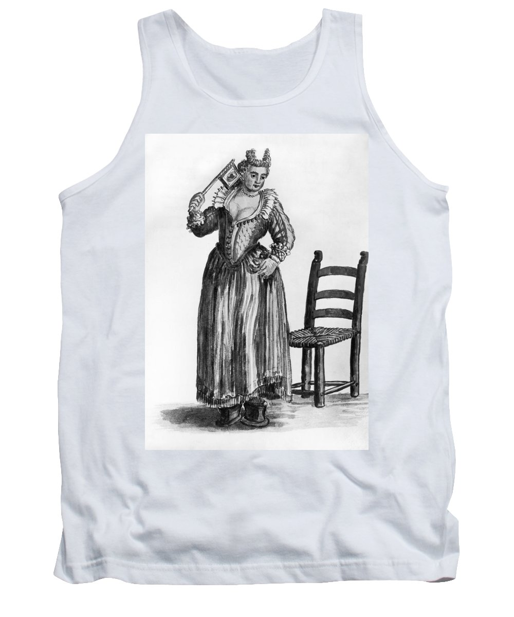 18th Century Tank Top featuring the drawing Venice Prostitute by Granger