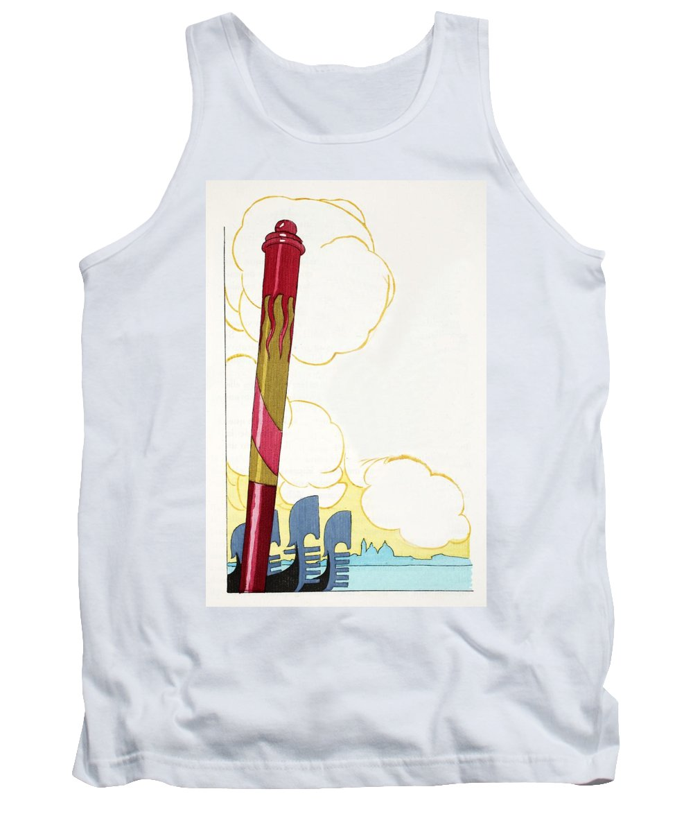 Tank Top featuring the painting Venice Silouhette by French School