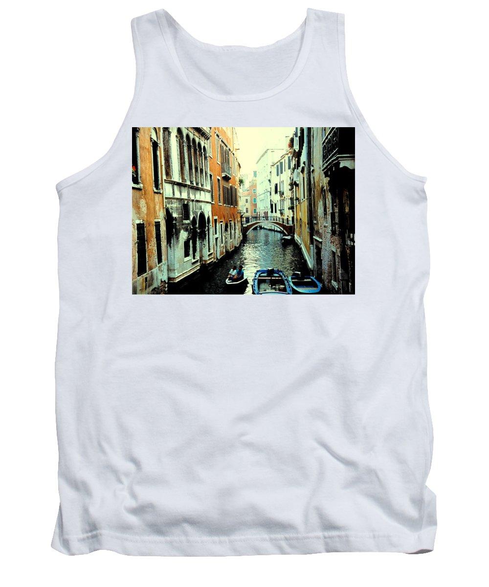 Venice Tank Top featuring the photograph Venice Street Scene by Ian MacDonald