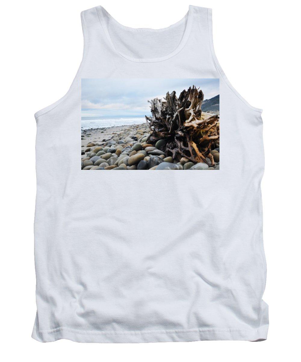 Ventura Tank Top featuring the photograph Ventura Driftwood by Kyle Hanson