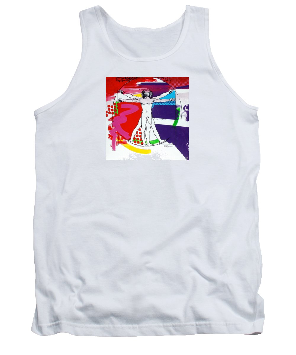 Classic Tank Top featuring the painting Vetruvian by Jean Pierre Rousselet