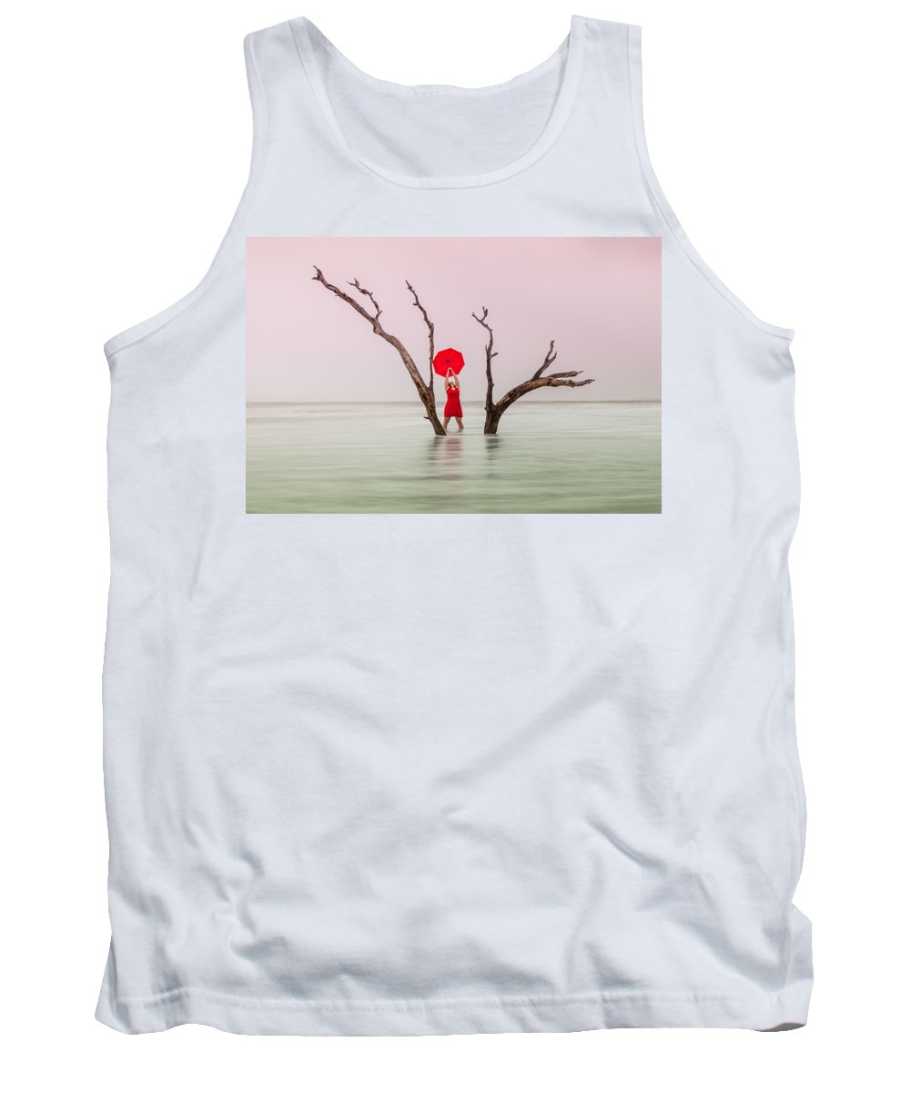Woman Tank Top featuring the photograph Uncertain Victory by Carol VanDyke