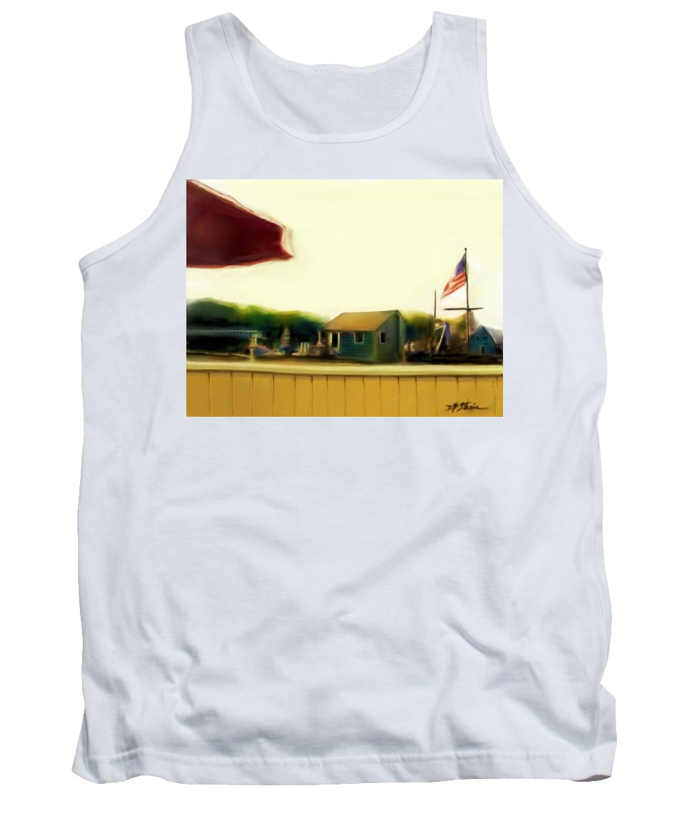 Fineartamerica.com Tank Top featuring the painting View From The Deck Number 2 by Diane Strain