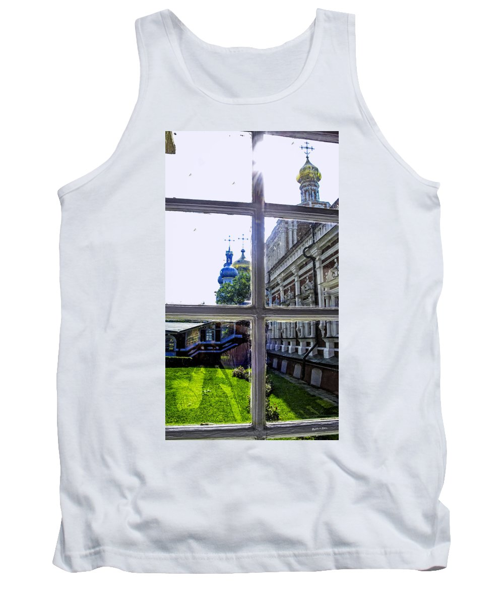 Window Tank Top featuring the photograph View From The Novodevichy Convent - Russia by Madeline Ellis