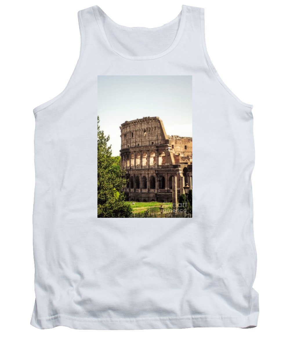 Italy Tank Top featuring the photograph View Of Colosseum by Prints of Italy