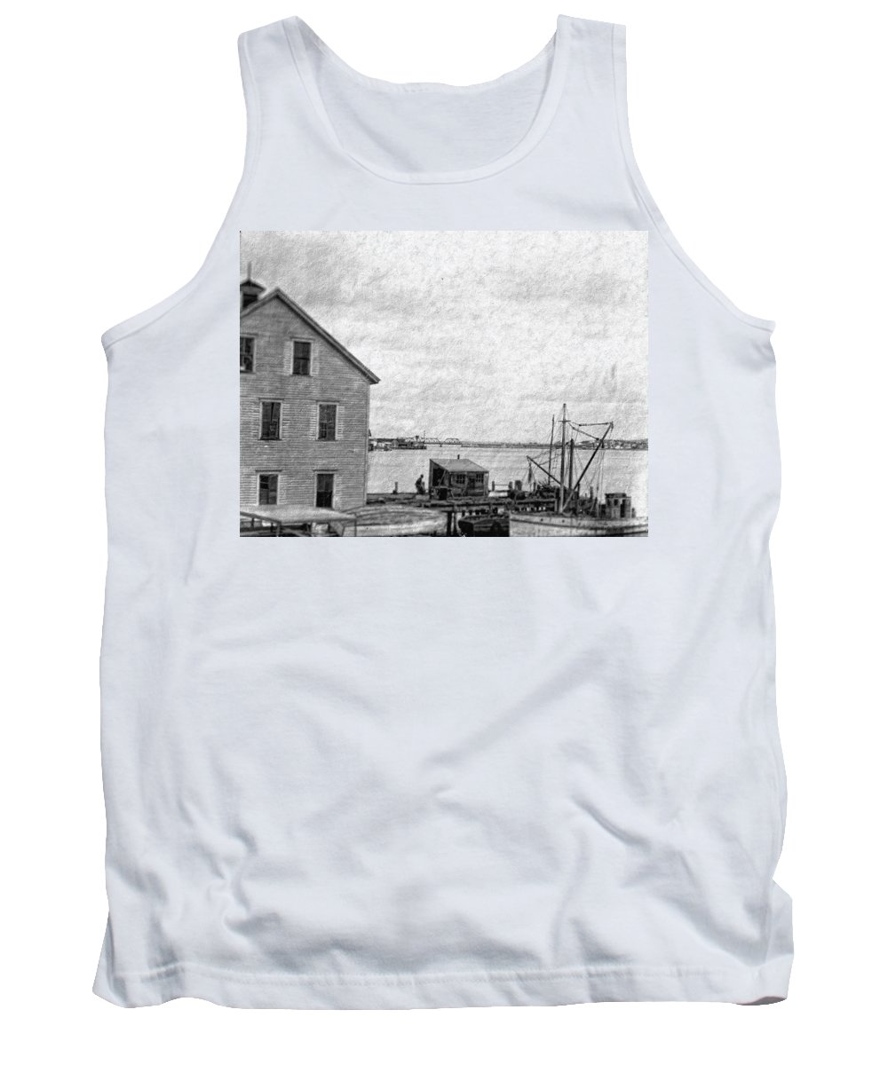 Tank Top featuring the digital art View Of The Harbor by Cathy Anderson