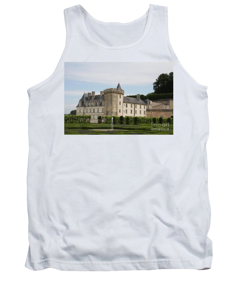 Palace Tank Top featuring the photograph Villandry Chateau And Boxwood Garden by Christiane Schulze Art And Photography