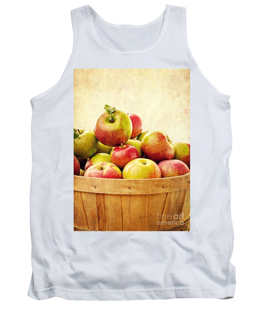 Fruit Tank Top featuring the photograph Vintage Apple Basket by Edward Fielding