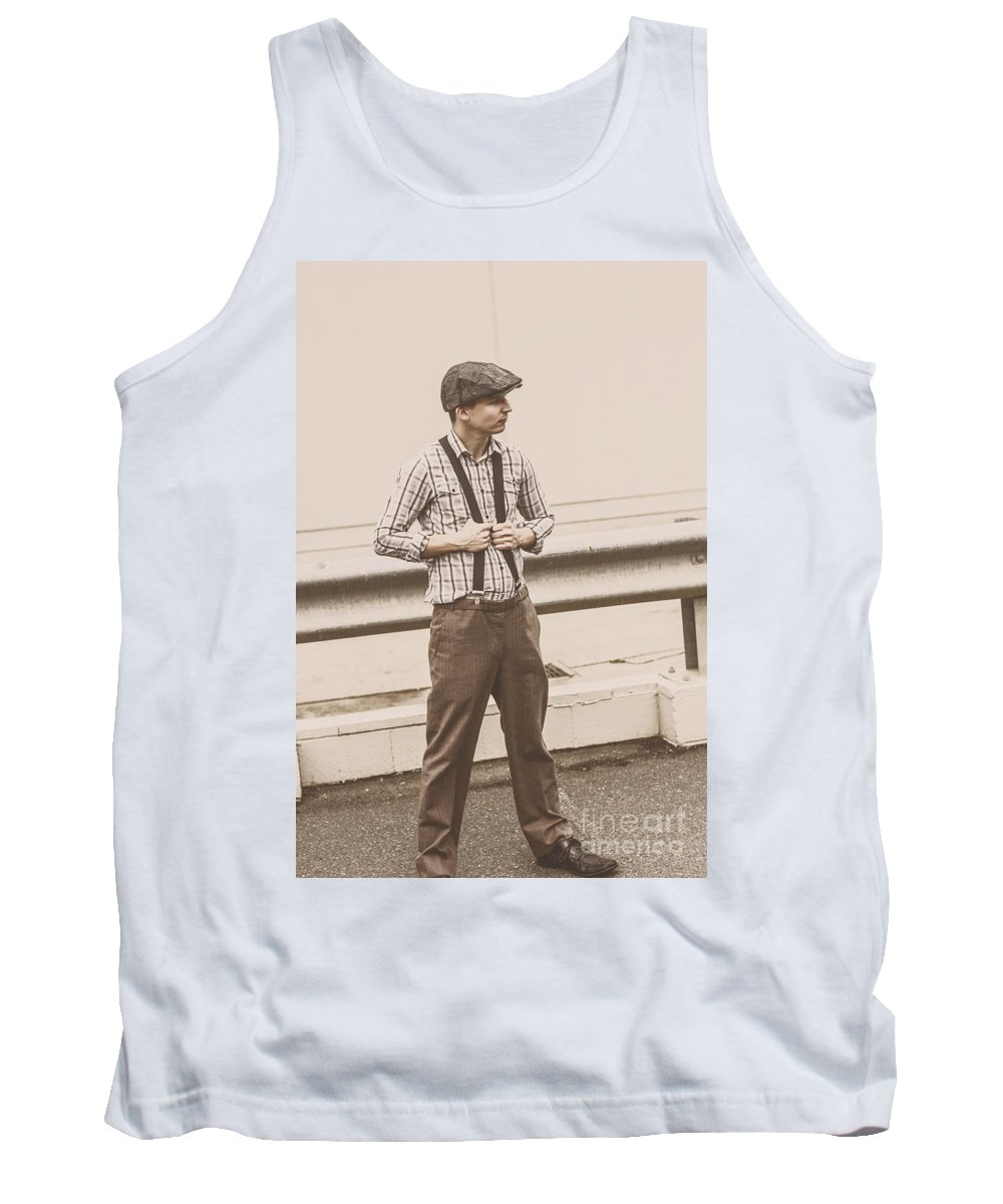 Braces Tank Top featuring the photograph Vintage Fashion Model by Jorgo Photography - Wall Art Gallery