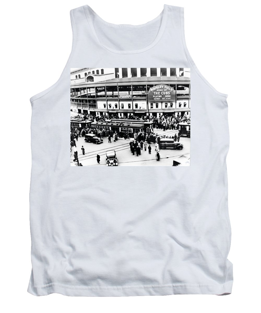 Vintage Wrigley Field Tank Top featuring the photograph Vintage Wrigley Field by Bill Cannon