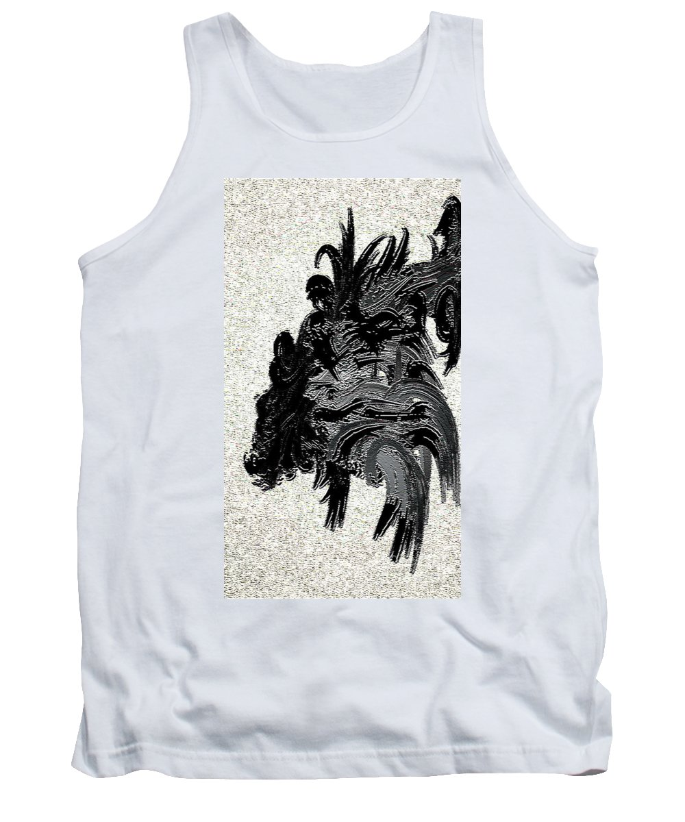 Native Tank Top featuring the digital art Vision Quest by Kim Peto