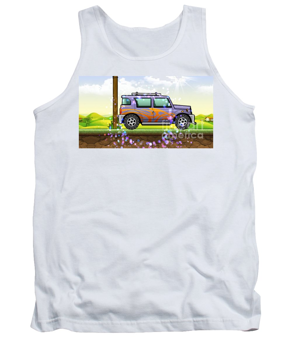 Cars Tank Top featuring the digital art vw by Uma Swaminathan