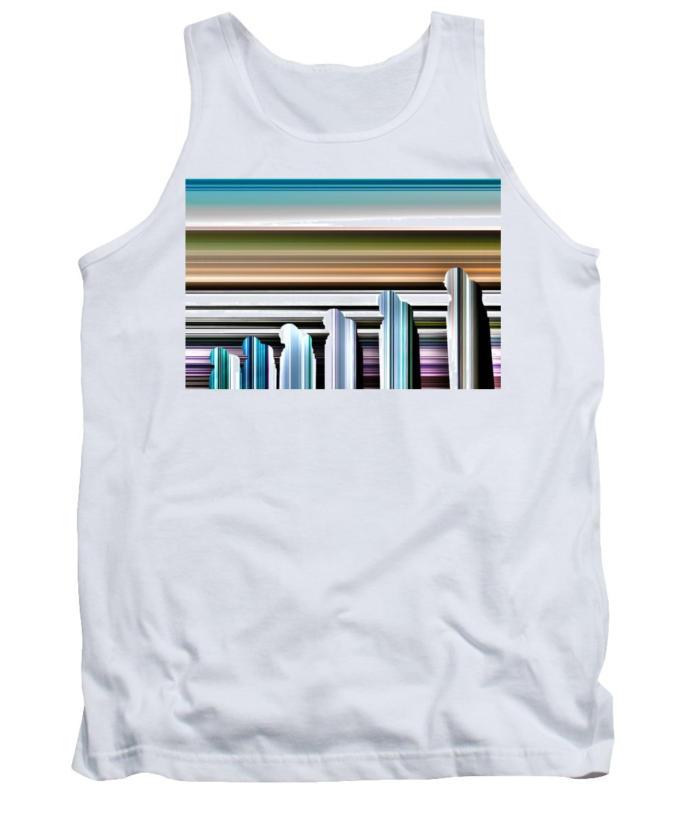 Abstract Tank Top featuring the photograph Walking In Line by Rabiri Us